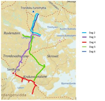 Rute Hardangervidda