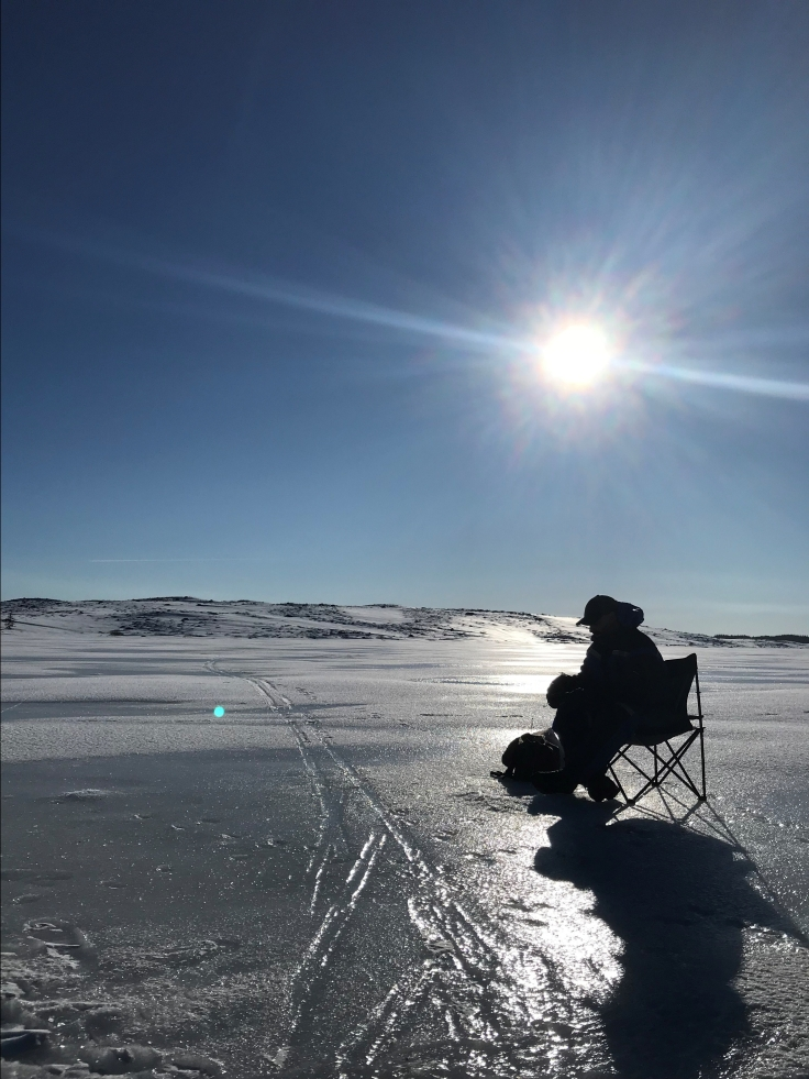 Isfiske på Storamos